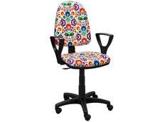 Dětská otočná židle BRENDA - FOLK světlá