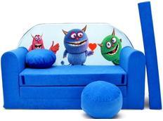 Dětská pohovka BUBU - modrá