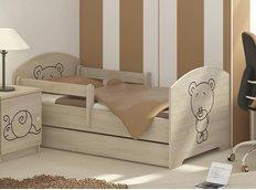 Dětská postel s výřezem MÉĎA - přírodní 140x70 cm
