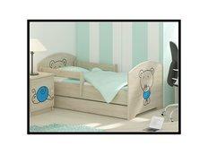 Dětská postel s výřezem MÉĎA - modrá 160x80 cm