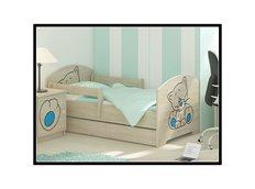 Dětská postel s výřezem KOČIČKA - modrá 140x70 cm