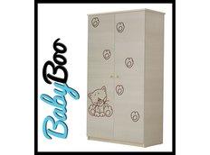 Dětská šatní skříň s výřezem KOČIČKA - přírodní