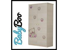 Dětská šatní skříň s výřezem KOČIČKA - růžová