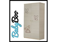 Dětská šatní skříň s výřezem PEJSEK - přírodní