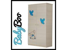 Dětská šatní skříň s výřezem PEJSEK - modrá