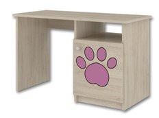 Dětský psací stůl s výřezem PEJSEK - růžová