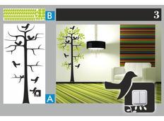 Dvoubarevné samolepky STROM DUO color - vzor 3