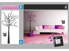 Dvoubarevné samolepky STROM DUO color - vzor 4
