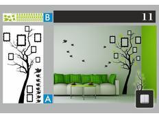 Dvoubarevné samolepky STROM DUO color - vzor 11