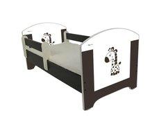 Dětská postel HNĚDÁ ŽIRAFA 160x80 cm