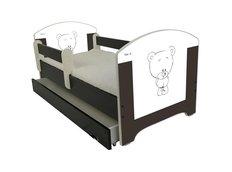 Dětská postel HNĚDÝ MEDVÍDEK 160x80 cm