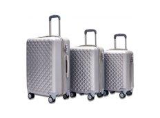 Cestovní kufry SOLIS - stříbrné