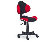 Dětská otočná židle FLASH černo-červená