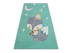 Dětský kusový koberec LIŠKA - zelený