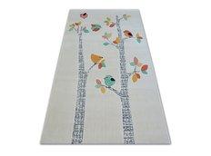 Dětský kusový koberec PTÁČCI - bílý