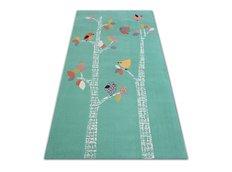 Dětský kusový koberec PTÁČCI - zelený