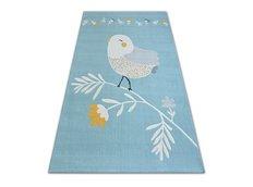 Dětský kusový koberec PTÁČEK - modrý