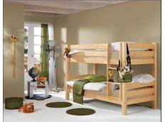 Dětská PATROVÁ postel BARČA 180x80 cm - přírodní