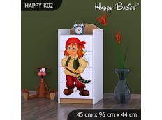 Dětská komoda - buk- TYP 2