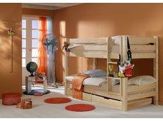 Dětská PATROVÁ postel BARČA PLUS 180x80 cm se šuplíky - přírodní