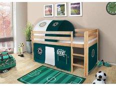 Dětská VYVÝŠENÁ postel FOTBAL - PŘÍRODNÍ