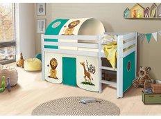 Dětská VYVÝŠENÁ postel SAFARI - BÍLÁ