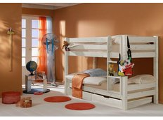 Dětská PATROVÁ postel BARČA PLUS 200x90 cm se šuplíky - bílá