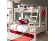 Dětská patrová postel s rozšířeným spodním lůžkem z MASIVU 200x80 cm bez šuplíku PAVLÍNA