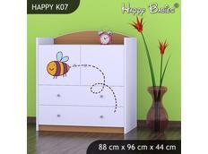 Dětská komoda - buk - TYP 7