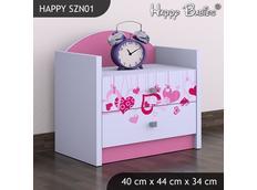 Dětský noční stolek TYP 1 - růžový