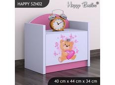 Dětský noční stolek TYP 2 - růžový