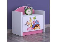 Dětský noční stolek TYP 3 - růžový