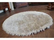 Kulatý koberec SHAGGY LOVE - béžový