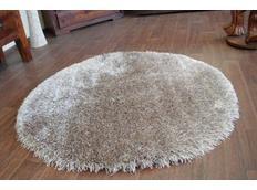 Kulatý koberec SHAGGY LOVE - světle hnědý