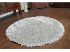Kulatý koberec SHAGGY LOVE - stříbrný