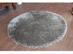 Kulatý koberec SHAGGY LOVE - tmavě šedý