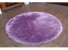 Kulatý koberec SHAGGY LOVE - fialový