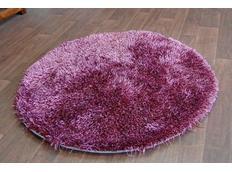 Kulatý koberec SHAGGY LOVE - purpurový
