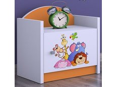 Dětský noční stolek TYP 3 - oranžový
