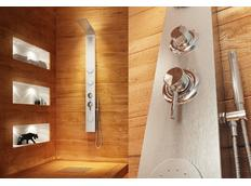 Sprchový panel BOARD silver