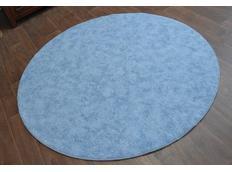 Kulatý koberec SERENADE - světle modrý