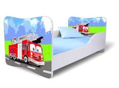Dětská postel 140x70 cm - HASIČI