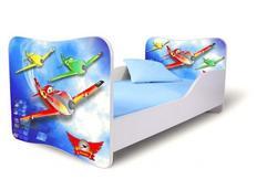 Dětská postel 140x70 cm - LETADLA