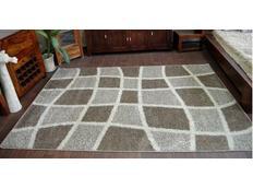 Kusový koberec SHAGGY ALDO 530 - béžový