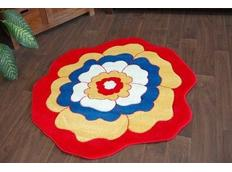 Dětský koberec KVÍTEK červený