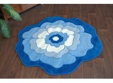 Dětský koberec KVÍTEK modrý