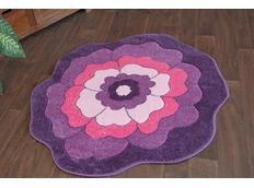 Dětský koberec KVÍTEK fialový
