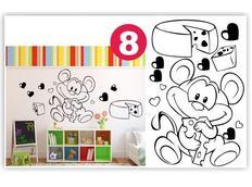 Dětské samolepky KIDS color - vzor 3-8