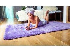 Dětský plyšový koberec FIALOVÝ