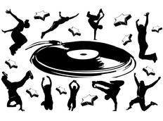 Moderní samolepky MUSIC - vzor 5